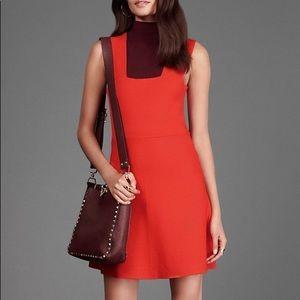 BNWOT ALC ALI Red Knit Square Neck Dress size XS